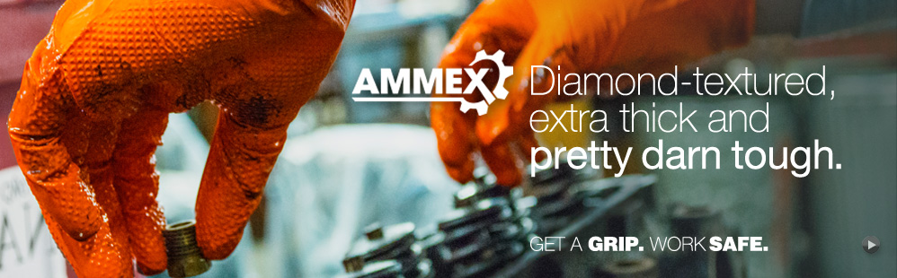 Ammex Orange Industrial Gloves