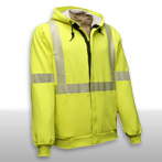 FR Hi Vis Hooded Zipper Sweatshirt