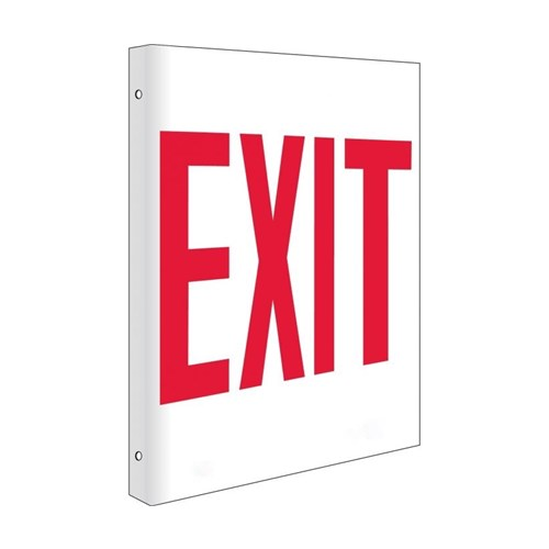 Exit Flanged Sign