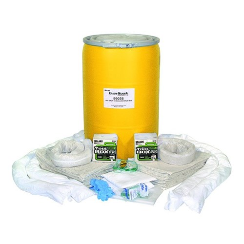 Sellars eversoak oil only 55 gallon drum spill kit for Motor oil 55 gallon drums wholesale