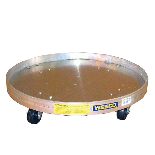 Wesco Specialty Aluminum Solid Bottom Drum Dolly