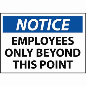 photograph about Printable Employees Only Sign named Attention Personnel Just Byond This Truth Signal Security +