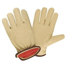 West Chester  9940KF Premium-Grain Pigskin, Red Fleece-Lined Gloves