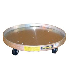 Wesco Specialty Aluminum Solid-Bottom Drum Dolly