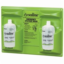 Fend-all® Eyesaline® Double-bottle Eyewash Wall Station