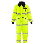 RefrigiWear ANSI Class 3 Hi-Vis Iron-Tuff Coveralls with Reflective Tape,  Lime