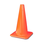 "Lakeside Plastics Safety Cone,  PVC, 18""H, 3 Lb, Plain"