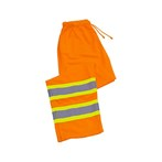 ERB Two-Tone Poly Mesh Safety Work Pants, ANSI Class E, S210, Hi-viz Orange