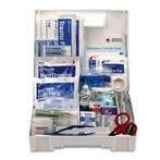 First Aid Only 25-Person Bulk Plastic First Aid Kit with Dividers, ANSI A, Type I & II, 90588