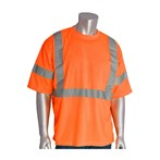 PIP® ANSI Type R Class 3 and CAN/CSA Z96 T-Shirt, X-Back, Mesh, Short Sleeve, Orange