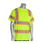 PIP® ANSI Type R Class 3 T-Shirt, Mesh, Two-Tone, Short Sleeve, Lime