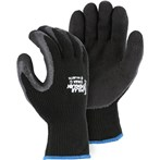 Majestic 3396BK Polar Penguin Foam Latex Dipped Palm Black Winter-lined Napped Terry Gloves