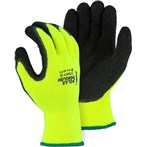 Majestic 3396HY Polar Penguin Foam Latex Dipped Palm Lime Winter-lined Napped Terry Gloves