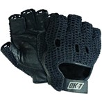 OK-1 Half-finger Leather Lifter's Gloves