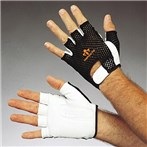 Impacto 410-30  Ergonomic Anti-impact Half-finger Mechanics Glove, Mesh Back, Right Hand