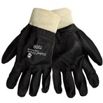 Global 700R Glove Chemical Handling Gloves: Premium PVC on Jersey Liner, Knit Wrist