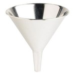 Funnel, Tin Coated, 10 Fluid Ounces