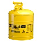 Justrite® Type I Steel Safety Cans, Diesel Fuel, 5 Gallons