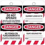 DANGER Do Not Operate Tags (English/Spanish)