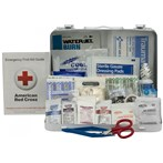 First Aid Only 25-Person Metal First Aid Kit, ANSI A+, Type III, 90561