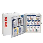 First Aid Only 25-Person Medium Steel SmartCompliance Cabinet, ANSI A, Type I & II, No Meds, 90578