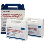 First Aid Only 25-Person Complete ANSI/OSHA Compliant Package for First Aid & Bloodborne Pathogens