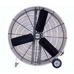 "Air King® Industrial-Grade Direct-Drive Drum Fan with Wheels, 36"" 2-Speed"