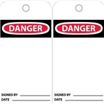 DANGER Blank Accident Prevention Tags