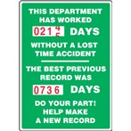 "Turn-A-Day Scoreboard- ""This Department Has Worked..."" (2 records)"