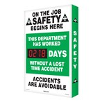 "Digi-Day®  Scoreboard- ""This Department Has Worked..."" (1 record)"
