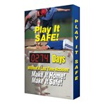 "Digi-Day® Scoreboard- ""Play It Safe"" (baseball graphic)"
