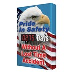 "Digi-Day® Scoreboard- ""Pride In Safety"" (eagle/patriotic graphic)"