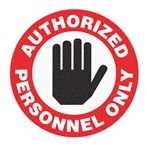 "Safety Floor Sign, Anti-slip – ""AUTHORIZED PERSONNEL ONLY"""