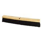 Boardwalk Medium Black Polypropylene Push Broom Head