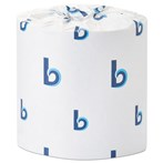 Boardwalk® BWK4530 400 Sheets/Roll 2-Ply White Deluxe Bathroom Tissue