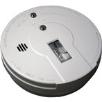 Battery-Powered Ionization Smoke Alarm with Exit Light