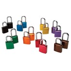 "Aluminum Padlocks, 1 1/2"" Shackle"