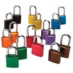 "Aluminum Padlocks, 1 1/2"" Shackle, Keyed Alike"