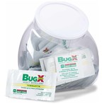CoreTex 12841 BugX FREE Fishbowl Dispenser DEET-free Insect Repellent Towelettes