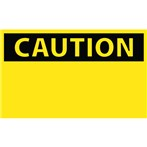 CAUTION Blank Label