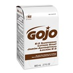 GOJO® 9132 Bag-In-Box Amber E-2 Fragrance-free Sanitizing Lotion Soap Refill
