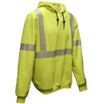 NSA ANSI Class 3 FR Hi-vis Fluorescent Yellow Hooded Pullover Sweatshirt