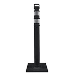 "Cortina Delineator 45""H EZ Grab Flared Black Post Kit"