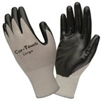 Direct Value Nylon Knit Nitrile-Palm Gloves