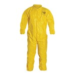 DuPont™ Tychem QC Coveralls, Collar, Elastic Wrists and Ankles, Serged