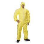 DuPont™  Tychem QC Coveralls, Attached Hood, Elastic Wrists and Ankles, Bound