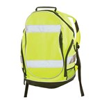 ERB 29003 BP1 Backpack, 600D Polyester, Hi-vis Lime W/Reflective Tape