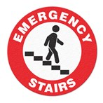 "Safety Floor Sign, Anti-slip – ""EMERGENCY STAIRS"""