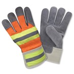 Cordova F7250R High-vis Orange Back Select Split Shoulder Cowhide Leather Palm Gloves