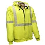 NSA ANSI Class 3 FR Hi-vis Fluorescent Yellow Hooded/Zipper Sweatshirt